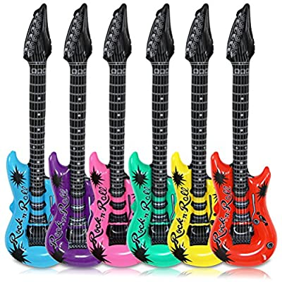 12 x HC-Handel 910009 Luftgitarre Aufblasbar Kunststoff verschiedene FarbenP