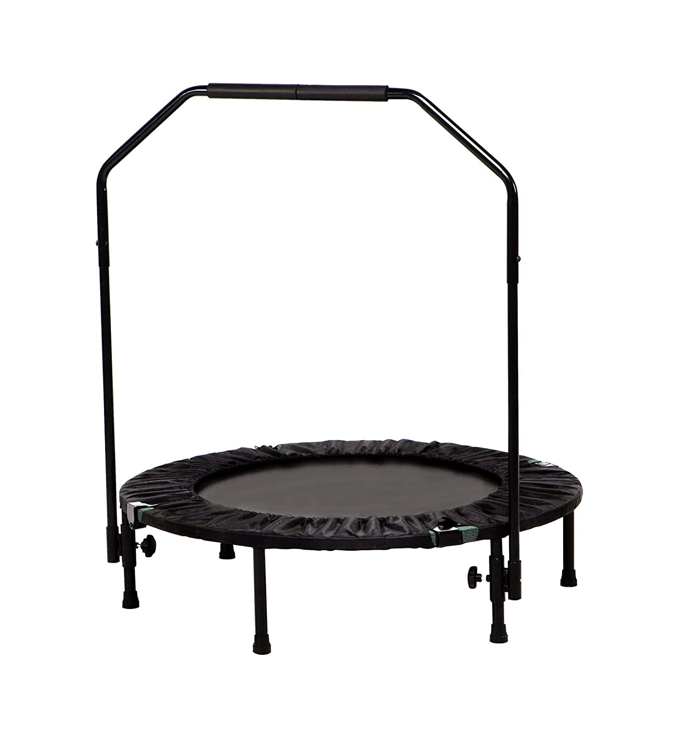 mini trampoline 40 inch handrail cardio fitness workout exercise home gym yoga ebay. Black Bedroom Furniture Sets. Home Design Ideas