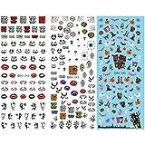 【ANION】ネイルシール  ハロウィン パーティー アート デザイン 貼るだけ 極薄 コスプレ 三枚セット