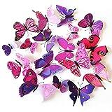 Tinksky 3D Schmetterling Kühlschrank Magnete Kühlschrank Whiteboard Magnete 24 Packs