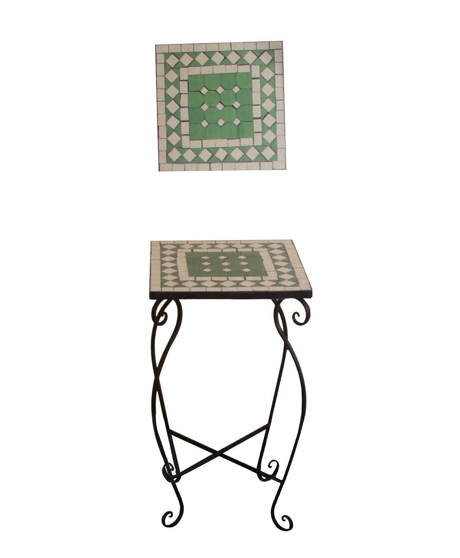 Mosaiktisch in grün 35x35x60cm, eckig günstig kaufen