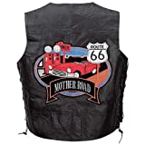 Diamond Plate Route 66 Theme Patch Vest