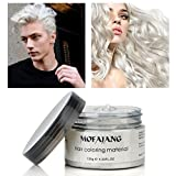 MOFAJANG Temporary Hair Coloring Wax Styling, Natural Color Wax Mud(4.23 oz), Multi Color to Choose, Suit for Parties, Cosplay, Club, Halloween, etc. (Color: White)