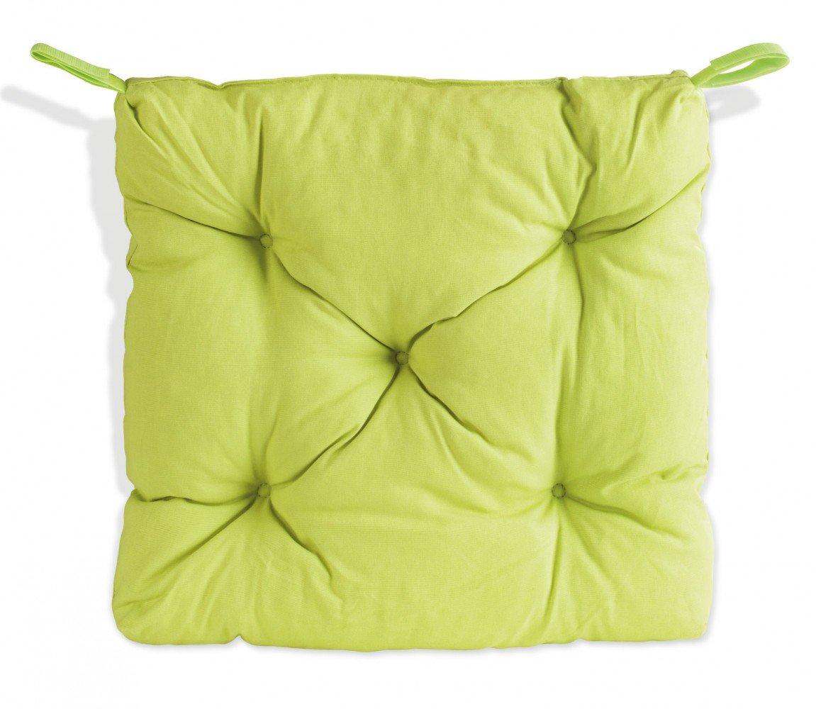 Sitzkissen – Stuhlkissen – Gartenstuhlkissen limone 40 x 40 x 8 cm Gesa günstig kaufen