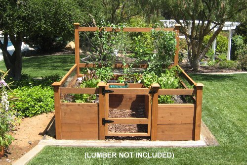 Raised bed gardening for herbs for Garden design kits