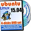 Ubuntu 15.04, 4-discs DVD Installation and Reference Set