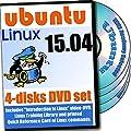 Ubuntu 15.04, 4-discs DVD Installation and Reference Set