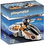 Playmobil - 5288 - Jeu de Construction - Moto et Agent Secret