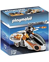 Playmobil - 5288 - Jeu de Construction - Moto et Agent Secret