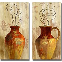 Fall Vessel I & II by Lanie Loreth 2-pc Premium Stretched Canvas Set (Ready-to-Hang)