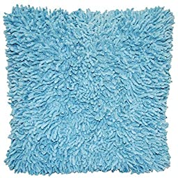 Shagadelic Chenille Twist Shag Pillow, 18-Inch, Light Blue by SeaSky