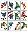DC Comics Justice League Temporary Tattoos - Set of 12 Larger Tats