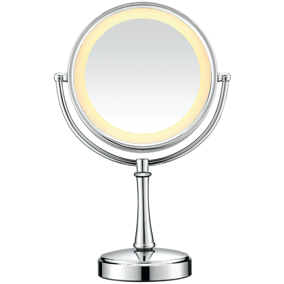 conair touch control double sided lighted mirror polished chrome. Black Bedroom Furniture Sets. Home Design Ideas