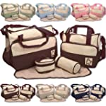 5pcs Baby Nappy Changing Diaper Bag S...