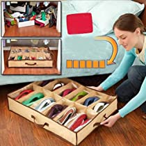 Fabric Storage Shoes Box For 12 Pairs