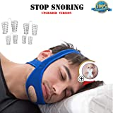 Anti Snoring Chin Strap, New Adjustable Snore Stopper Designed to Snore Reduction Most Effective Snoring Solution Stop Snoring Sleep Aid for Men and Women
