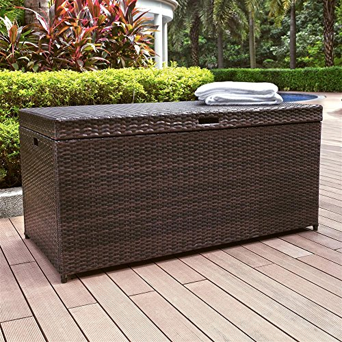 Crosley Furniture Palm Harbor Outdoor Wicker Storage Bin image
