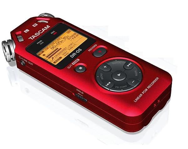 Tascam PORTABLE DIGITAL RECORDER-RED (VERSION 2) (DR 05 (Color: red)