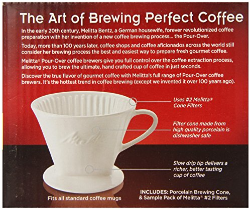 Melitta Coffee Maker Home Hardware : Melitta 64101 Porcelain #2 Cone Brewer Home Garden Kitchen Dining Kitchen Appliance Accessories ...