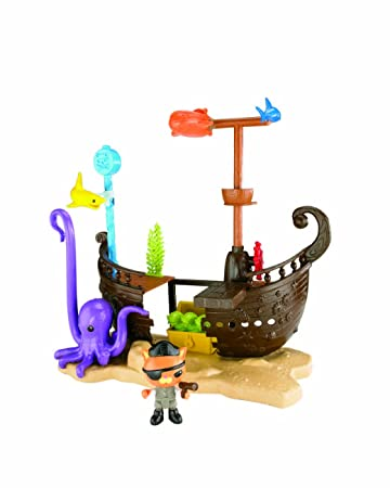 Mattel Fisher-Price X7210 - Die Oktonauten Kwasis Schiffswrack-Abenteuer, Spielset: Amazon.de: Spielzeug