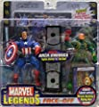 Marvel Legends Face Off Series 1 Variant Captain America vs. Red Skull Twin Pack Figure Set by Toy Biz