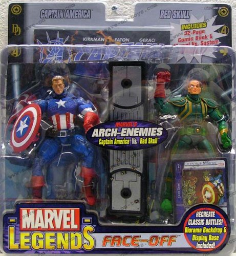 Buy Low Price Toy Biz Marvel Legends Face Off Series 1 Variant Captain America vs. Red Skull Twin Pack Figure Set (B000F5Z7SA)
