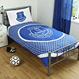 Everton Official Reversible Single Duvet Cover Set - Blue/White