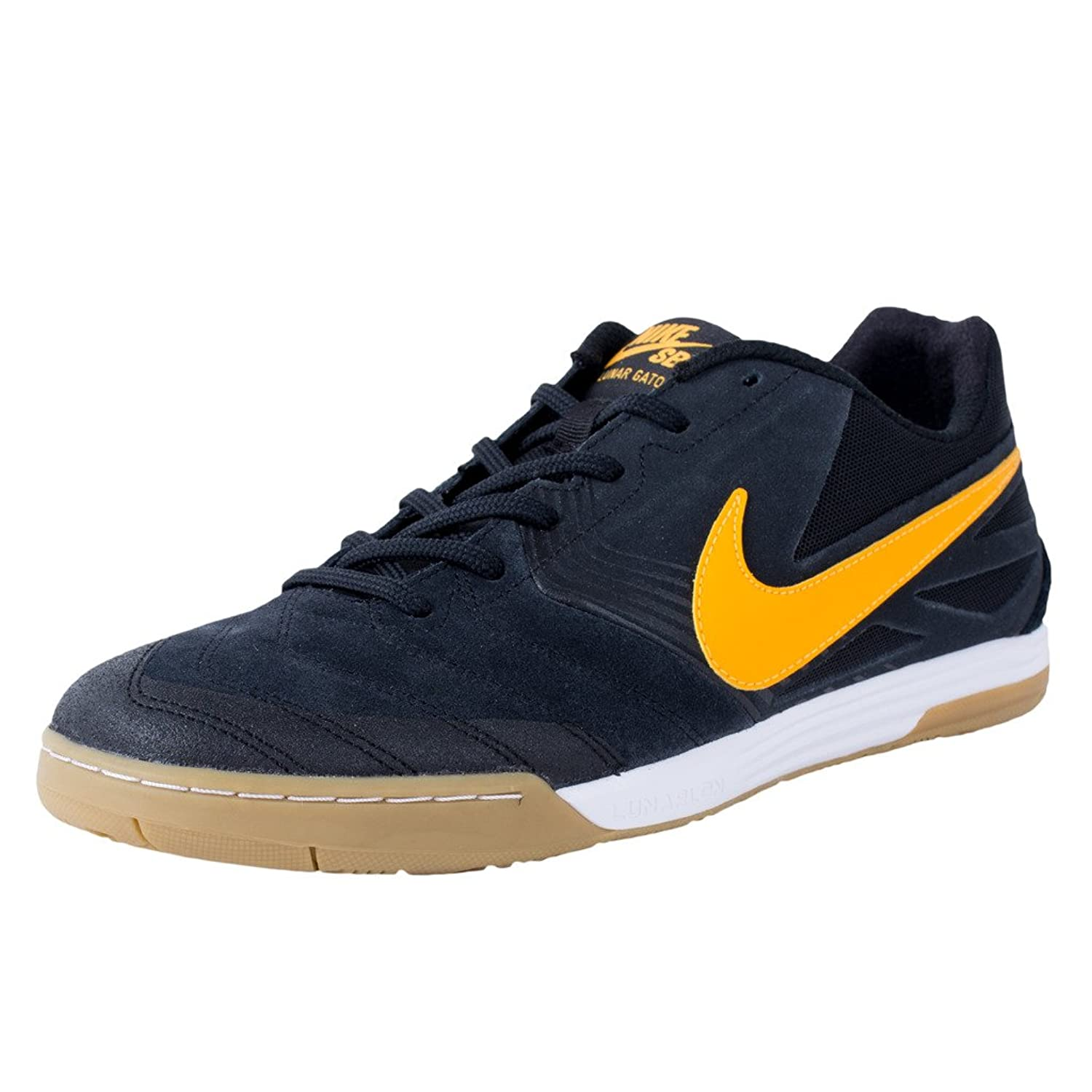 Images for Nike SB Lunar Gato Black / University Gold Gum / Light Brown Skate  Shoes-13
