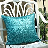Pony Dance Glitter Sequins Party/ Wedding Decorative Throw Cushion Cover Sham for Bed, 18