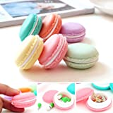 Dirance 6 PCs Earbud Cases, SD Card Macarons Mini Round Pocket Earbud Travel Carrying Case for Smartphone Earphone Storage Bags Box (Multicolor) (Color: Multicolor, Tamaño: Regular)