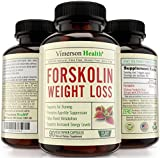 45 DAY SUPPLY - 100% Pure Forskolin Extract for Extreme Weight Loss. Best Diet Pills That Work Fast for Women and Men. Premium Appetite Suppressant, Metabolism Booster & Carb Blocker. 100% All Natural