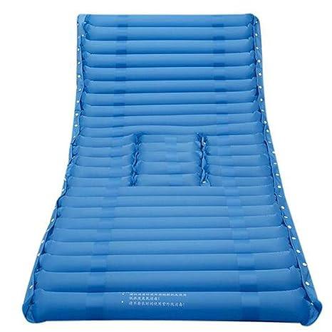 XUAN Traitement Traitement médical Soulagement de la douleur Empêcher le couvert de sommeil Decubitus Soin simple Coussin gonflable pour matelas Hémorroïde Bleu 190X90CM