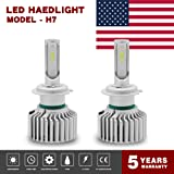 Globled 2x H7 Led Headlight Bulbs for Cars 200W 30000LM Can-Bus 6000K White Automotive Lamps Led Driving Lights Car Bulbs Conversion Kit (HG-D2-H7-FBA)