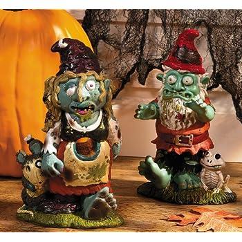 Zombie Boy & Girl Gnome Set - Halloween & Outdoor Decor