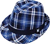Black and Blue Plaid Fedora. Size
