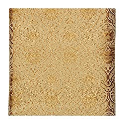 Raj Men's Synthetic Kurta Fabric (White and Golden)