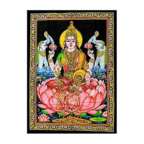 lakshmi-laxmi-hindu-india-colgante-de-pared-arte-decoracion-decorativa-de-algodon-manta-de-impresion