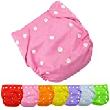Baby Nappy AutumnFall® 1pc Best Seller Cloth Nappy Reusable Washable Baby Cloth Nappies Diapers (Pink) (Color: Pink, Tamaño: One Size)