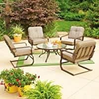 Mainstays Lawson Ridge 5-Piece Patio Conversation Set, Tan, Seats 4 from Mainstays