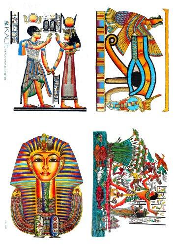 Accademia del Craft sales 32 x 45 cm Les symboles égyptien Papier de riz