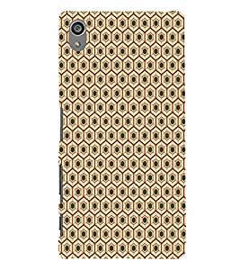 ifasho Designer Phone Back Case Cover Sony Xperia Z5 Premium :: Sony Xperia Z5 4K Premium Dual ( Blue Grey Green Pattern Design )