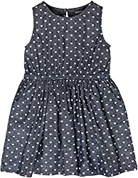 Sequences Girl's Dress(Grey, 9 - 10 Years )