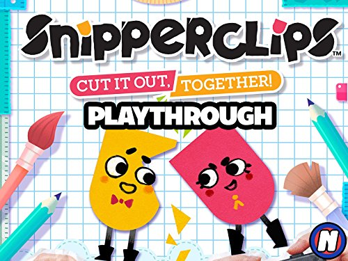 Clip: Snipperclips: Cut It Out, Together! Playthrough on Amazon Prime Instant Video UK
