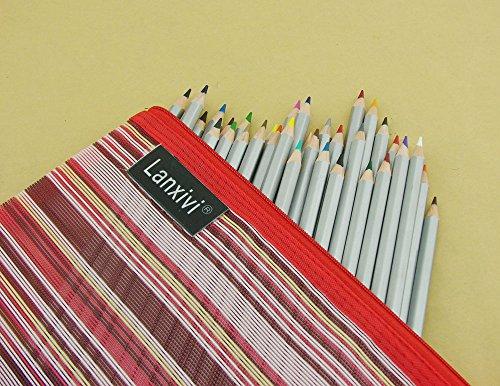 Lanxivi 36 Marco Colored Pencils With Pen Pouch Set