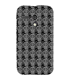 iFasho Design lines pattern Back Case Cover for Moto G