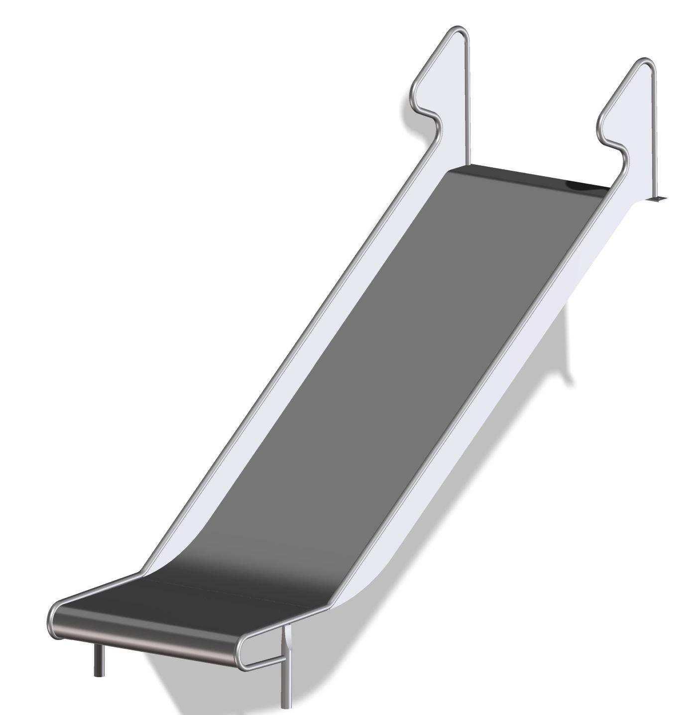 b+t BU-RWB40510 Rutsche aus Edelstahl / Turm-bzw. Hangrutsche / Podesthöhe= 200 cm / Breite= 100 cm / Länge= 400 cm kaufen