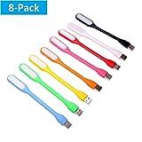 8 pcs Mini LED USB Light, Ebyphan Adjustable Book Light, Modern LED USB Lamps for PC Laptop Computer Keyboard, Flexible Gooseneck Reading Light, Smart Night Light (Color: 8 Colors)