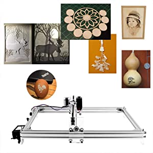 Uttiny Laser Engraving Machine, 30x40cm Engraver Kits DIY CNC 2.5W USB Upgraded 2 Axis Desktop Printer Used As Carving Engraving Cutting Machine for Leather Wood Plastic (Tamaño: 3040)