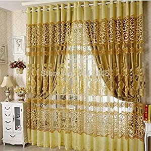 Hot Sale High Quality Modern Tulle Window Curtain Embroidered Voile Sheer Curtains