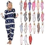 Ladies Fleece All In One Piece Pyjama...